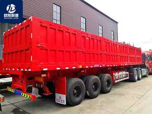 special customized 3 axles 1.20m high Strengthen sidwall use big stones transport semi trailer for sale