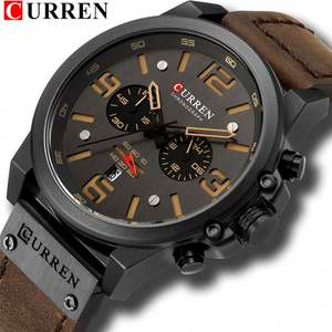 CURREN 8314 individuelles logo dropship männer quarzuhr oem private label luxus Wasserdichte Chronograph dropshipping sport armbanduhr