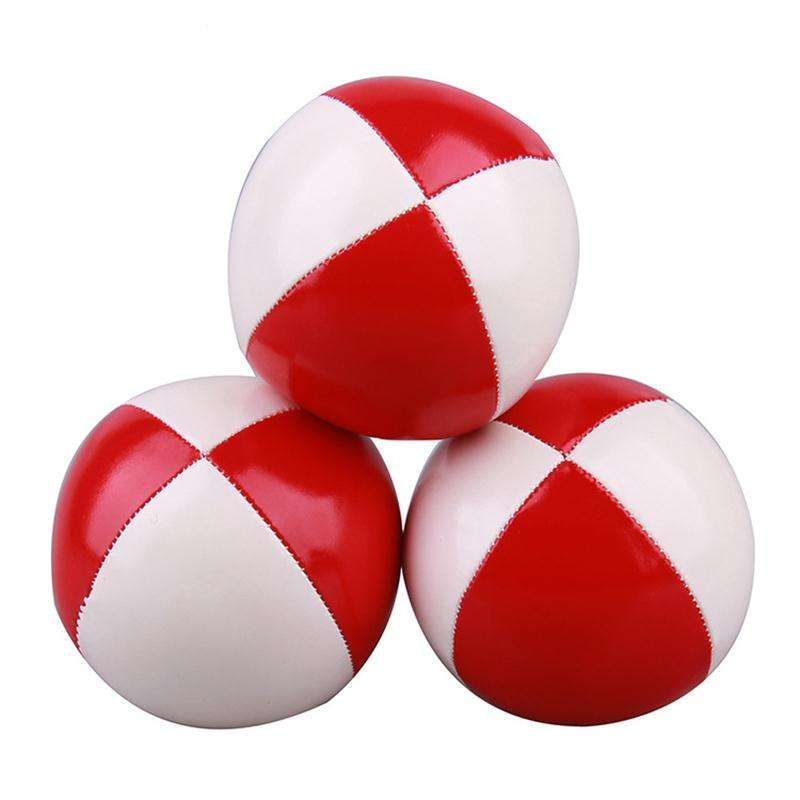 New pu leather velvet magic acrobatic hand toss juggling ball juggling ball toy ball