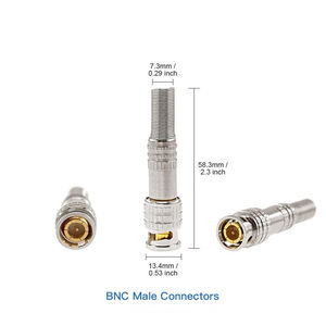 HD Video Male Connector BNC with Spring for CCTV Security