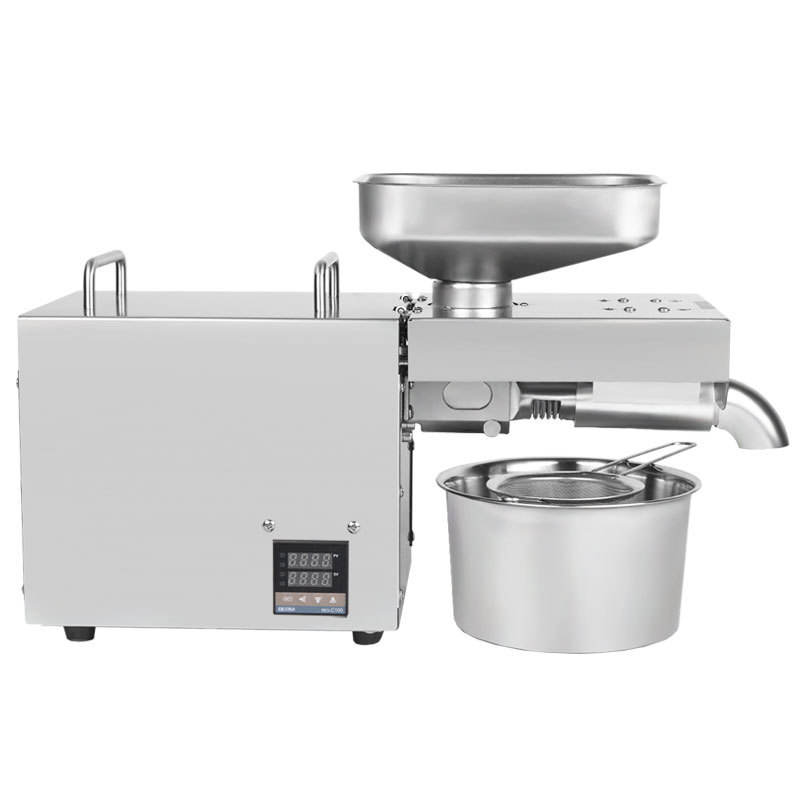 K18 Stainless Steel New Smart Mini Oil Press Home Use/Commercial Use Sunflower Oil Olive Oil Press Making Machine