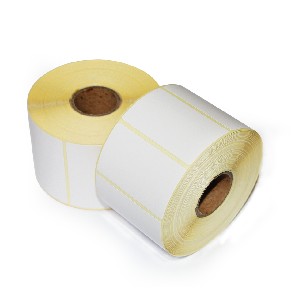 Blank or printed 58mm thermal paper sticker zebra barcode label roll