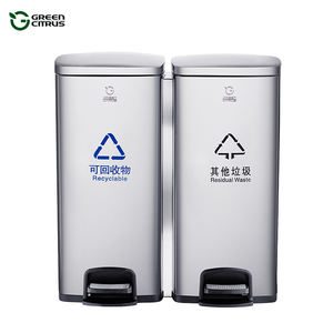Environment Friendly Triple Step Rubbish Bin Stainless Steel Garbage Can 120L Recycle Bin