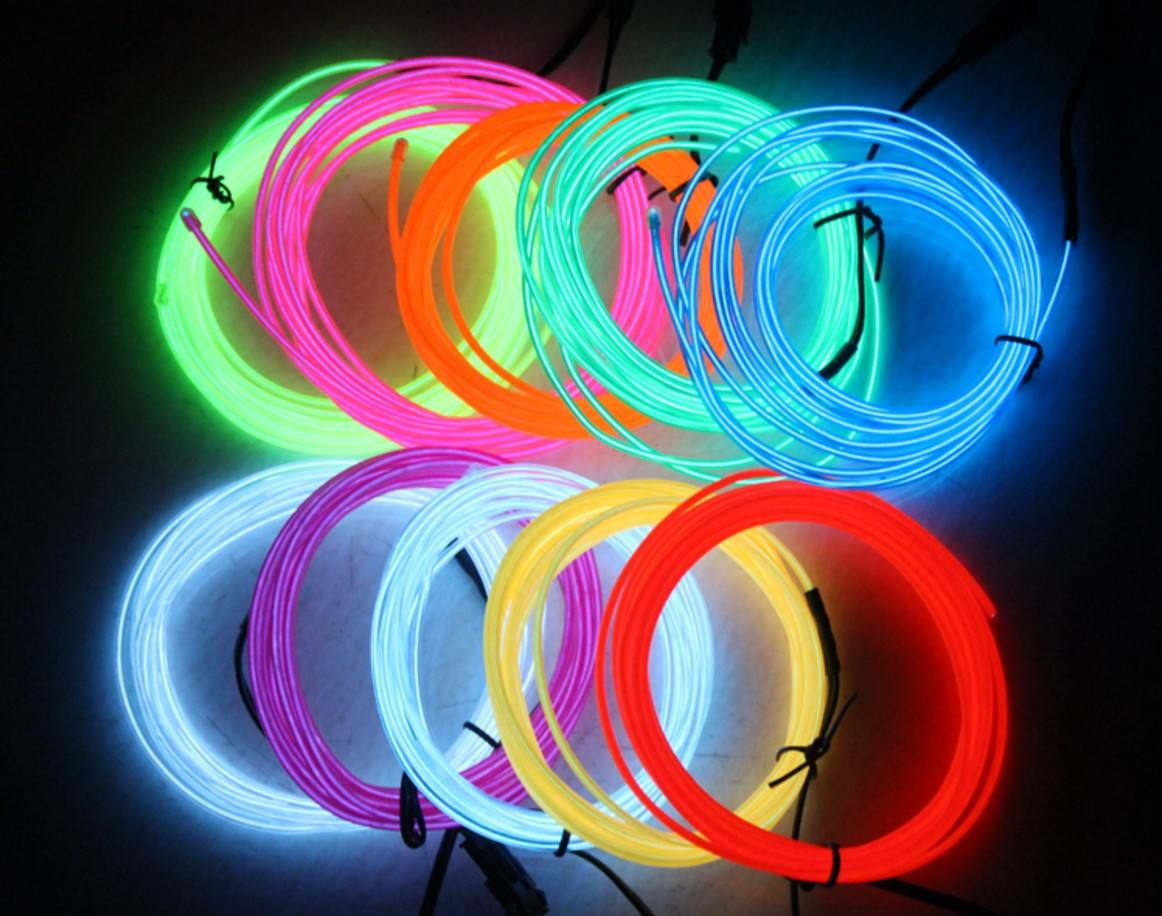 Neon Glow Flexible EL Strip Tube Wire Light Rope Decoration for Shoe Party Dance Car