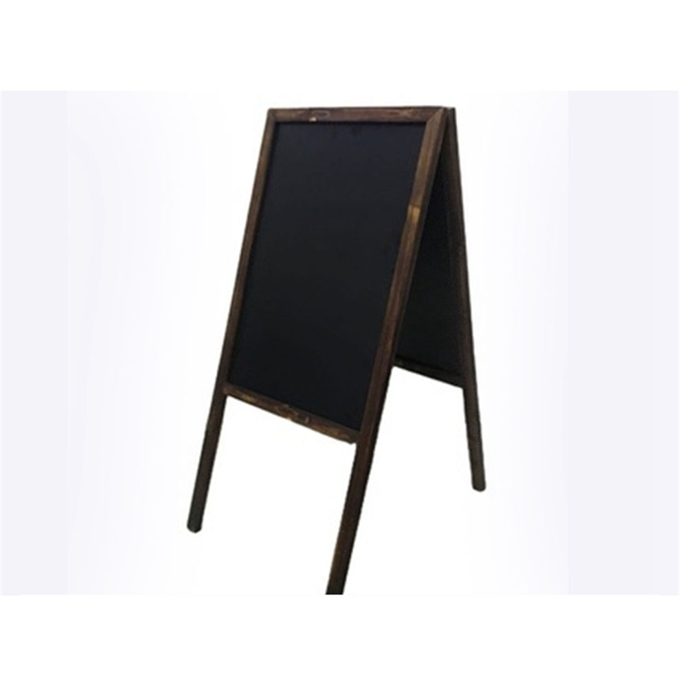 Restaurant Outdoor Smart Chalk Writing Black Board Wooden Vintage Chalkboard Double Sided Folding A Frame Stand Blackboard