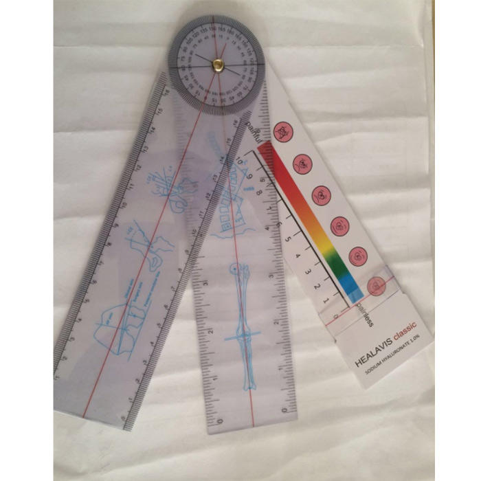 0-200mm//0-8inch Plastic Digital Protractor Angle Finder Ruler Goniometer Gauge PVC Plastic Material