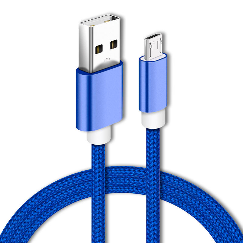 3ft 2A fast charging usb data cable nylon braided micro cable for mobile phone
