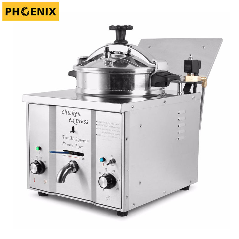 fish and chips fryer / industrial gas fryer / spiral potato deep fryer