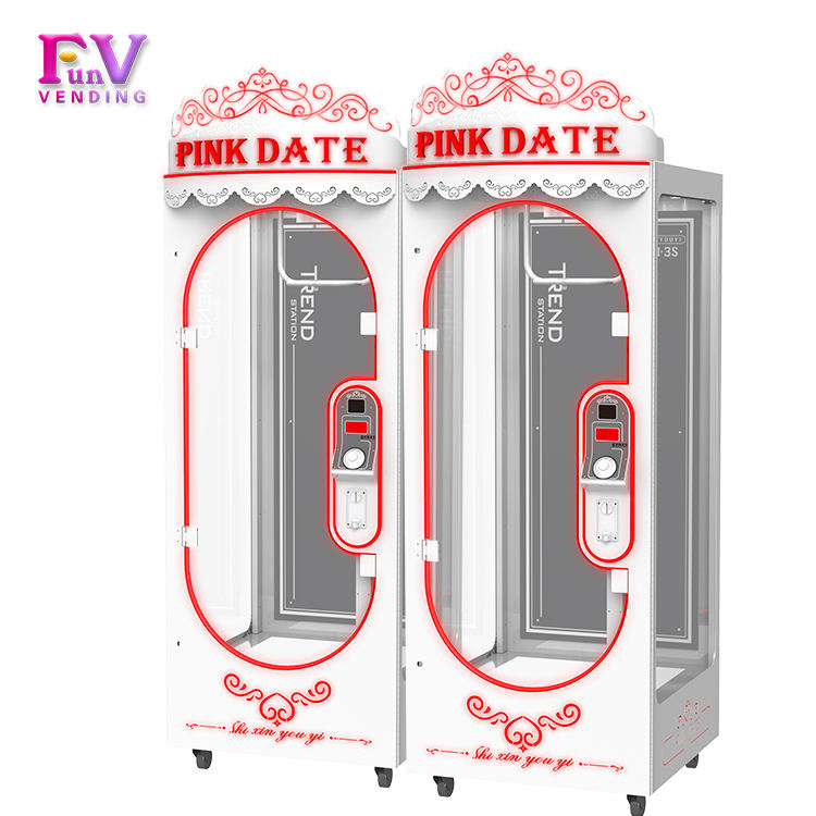 Coin Operate 3S PINK DATE gift in a balloon machine gift in a balloon machine toy Cutting Prize machine for sale