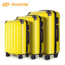 Custom traveling 360 degree travel abs suitcase luggage trolley bag sets cart luggage 28 inch