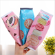 Roll Up Zipper PU Leather Coloring Biscuit Bag School Cartoon Snack Pen Bag Children Pencil Bag