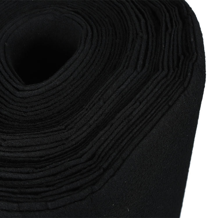 Factory hot sales 100% polyester fabric roll activated carbon filter carbon fiber 350G 480G