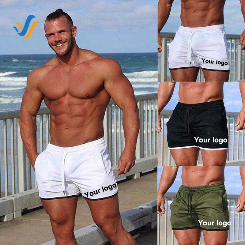 Custom Men's Polyester Gym Shorts Male Camo Mesh Workout Beach Quick Dry Short Shorts For Men