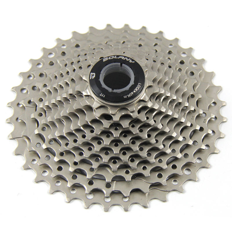 BOLANY Road Bicycle Cassette 8/9/10/11Speed 11-40T Cassettes 9 Velocidade Bike Freewheel Derailleur Bicycle Accessories