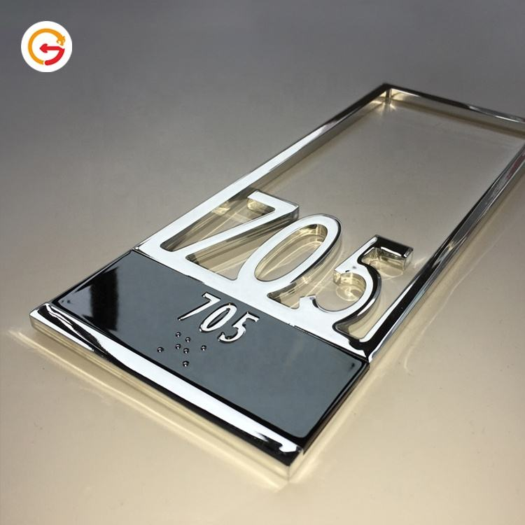 JAGUARSIGN Custom Office Door Numbers Sign Hotel Room Number Signs Plate Polished Apartment Door Number Plate