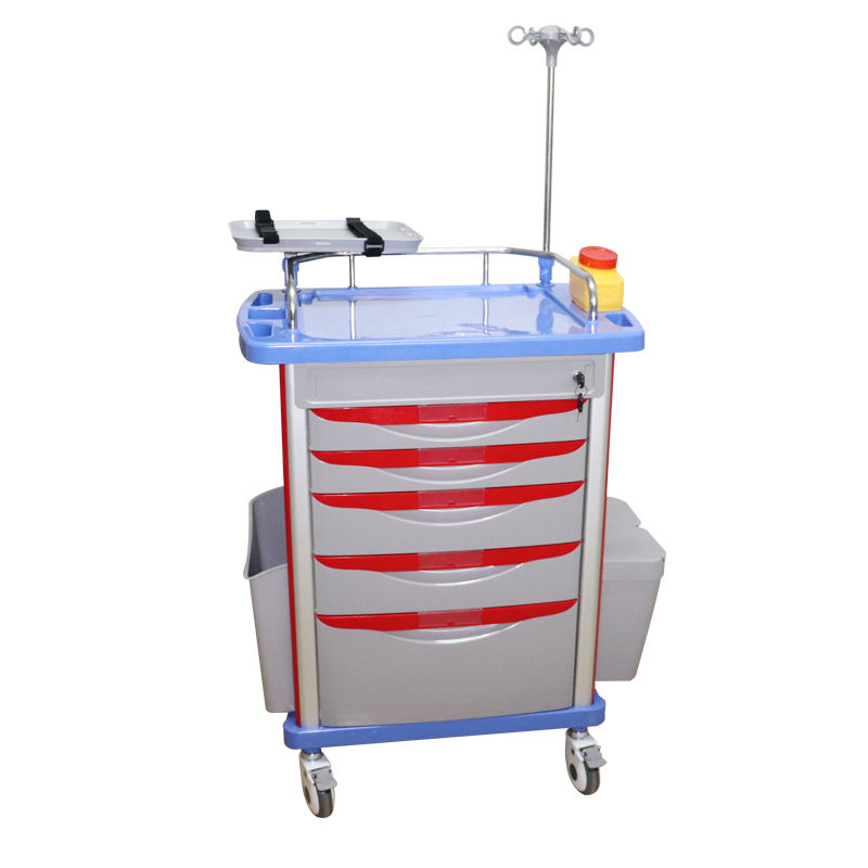 Hospital Emergency Trolley Instrument Hospital Trolley Price China Crash Cart in Stock