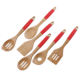 Kitchen Tool Kitchen Tool Set OEM ODM Bamboo Utensil Set With Silicone Cover Handle Fashion Bamboo Kitchen Cooking Utensils Set Cooking Tool Set Of 6PCS