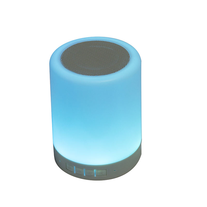 Smart LED Desk Lamp Blue tooth Speaker OEM Logo Room Music Portable Wireless speaker touchable Discoloration light DJ speaker