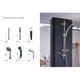 wholesale high quality stainless steel/copper material stable hand shower for bathroom