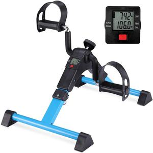 Wellshow Sport Folding Exercise Peddler Portable Pedal Exerciser with Electronic Display Resistance and Resistance for Seniors