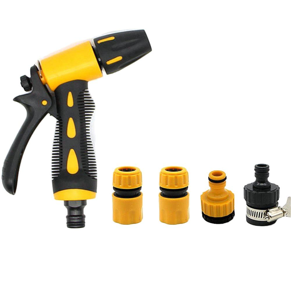 Garden Hose Nozzle Sprayer Hose Nozzle Set Anti Leak High Pressure Heavy Duty 9 Adjustable Watering Patterns