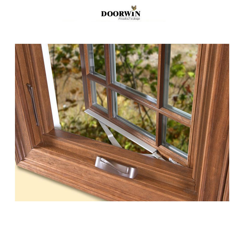 OEM top quality sound proof timber and aluminium casement sunroom crank open window