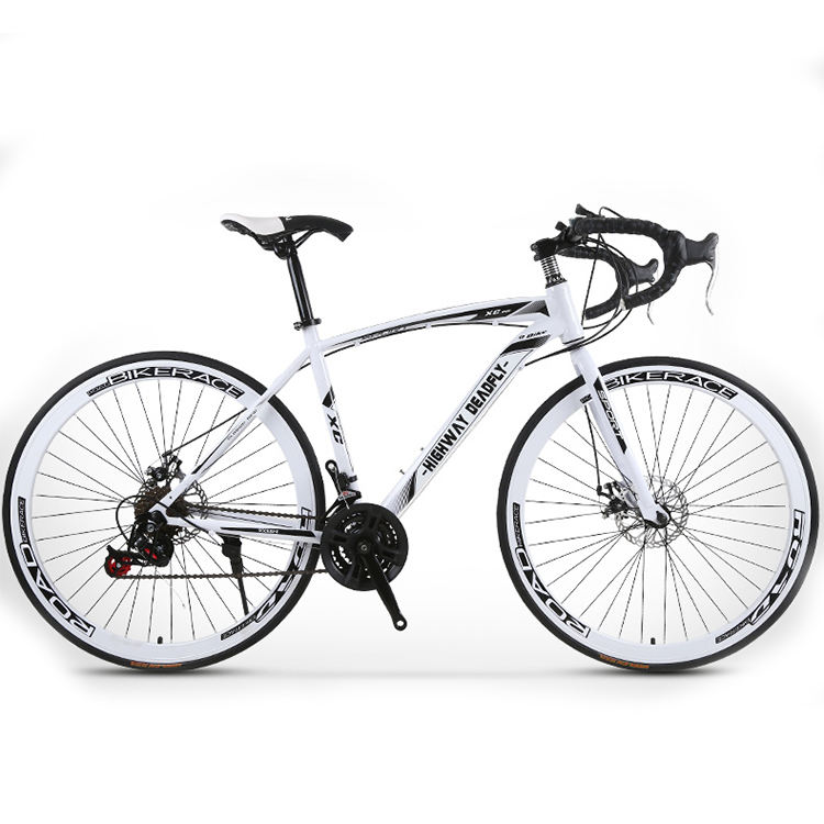 High-carbon steel adult cheap carbon road bikes / road bike racing ride for men / wheelset road bike 700C with DISC brake