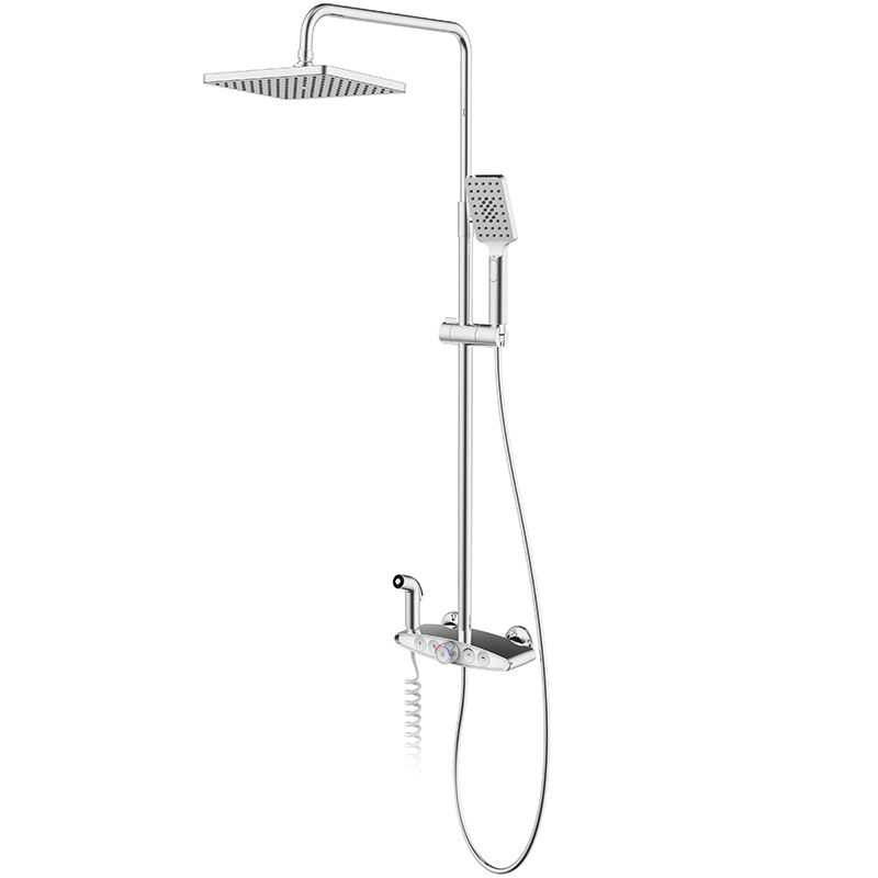 Moderne Badkamer Keramische <span class=keywords><strong>Ventiel</strong></span> Roterende Lift Douche Set