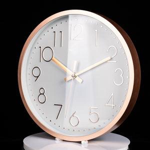 12 inch quiet quartz simple 3D wall clocks simple design