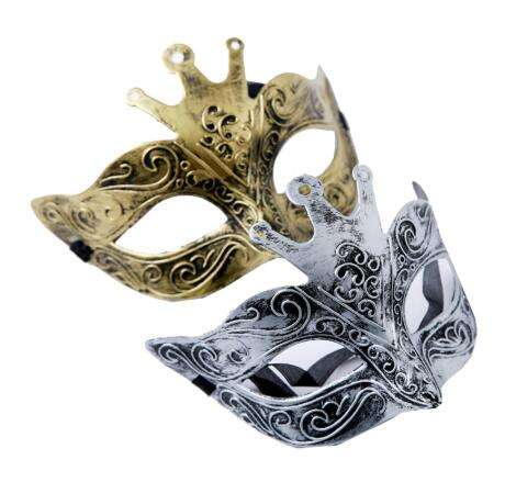 Men's Crown King Venetian Mask Venice Wedding Carnival Party Performance Costume Fashion Lady Mask Masquerade Halloween Props