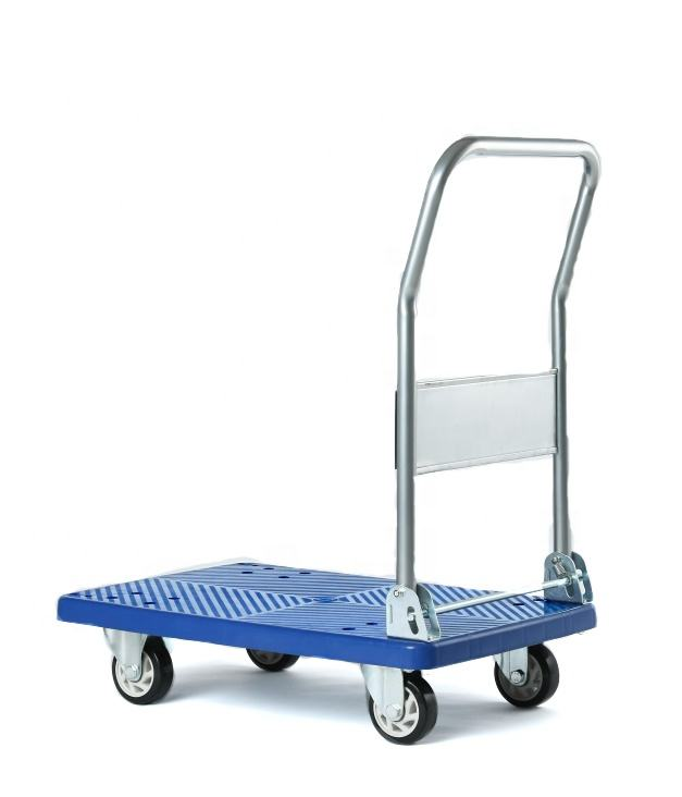 DLPO Factory Foldable warehouse trolley platform Folding hand push Carts and trolleys