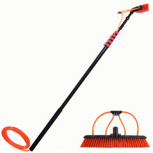 Extentool 18FT Water fed pole brush with telescopic Long Handle Window Cleaning tools