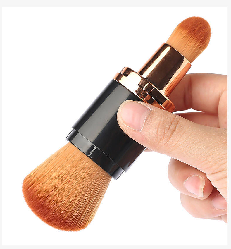 Double head hair BB Cream Brush Extractive Brush Two Large Make-up Brush Portable blush concealer