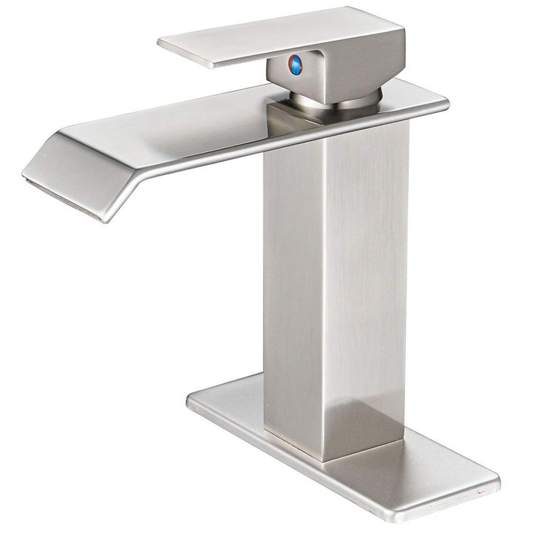 Cupc BWE Brushed Nickel Single Lever One Hole Waterfall Bathroom Sink Faucet