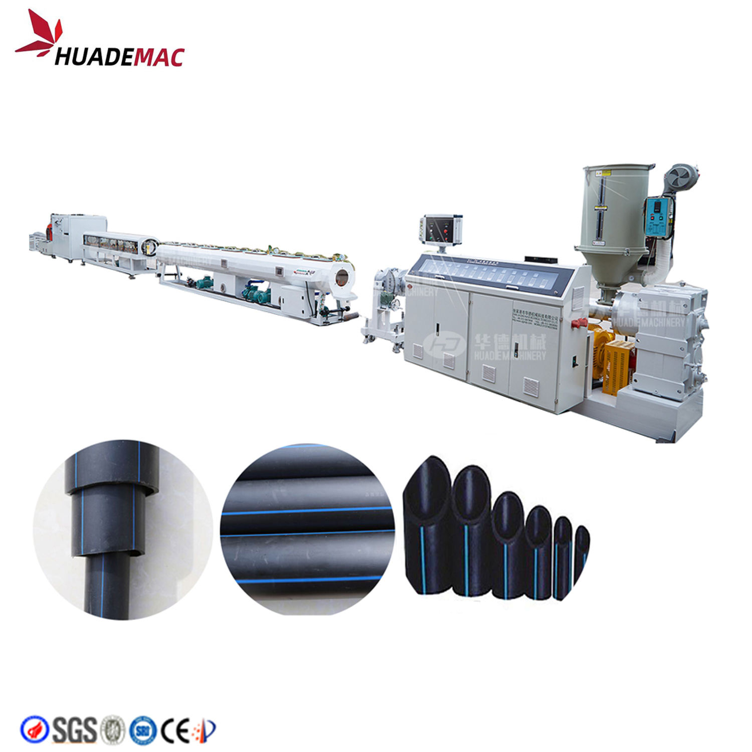 Hdpe pe Pipe Extrusion Machine Producing Plastic Pipes Machines