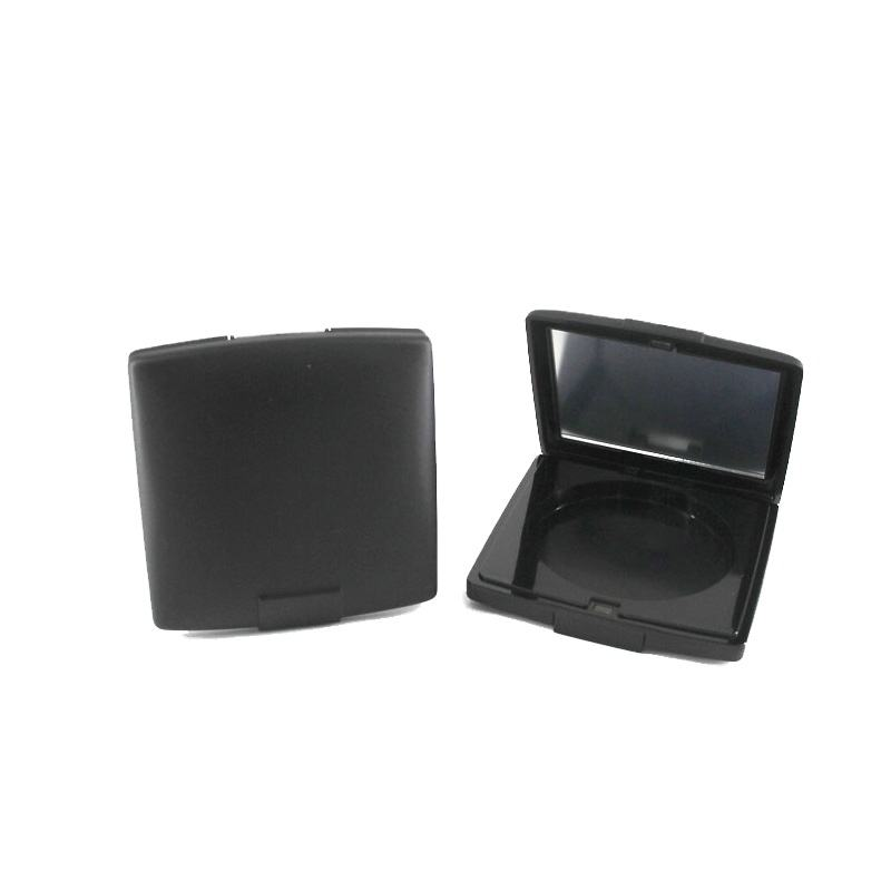 New Hot Products Empty Round Magnet Pressed Compact Powder Case With Mirror