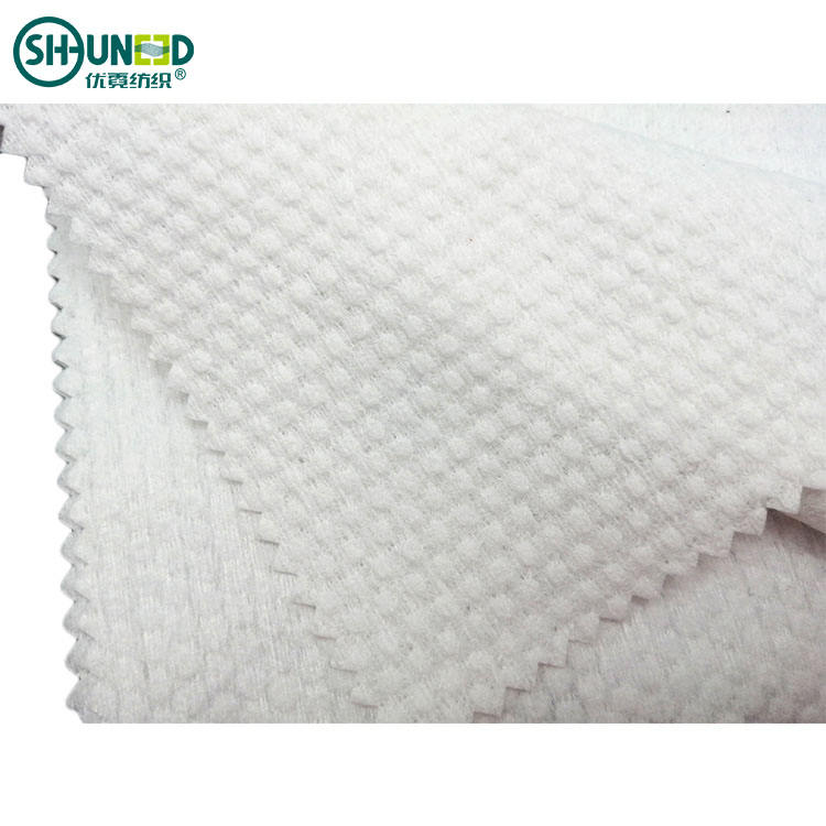 China Wholesale 80gsm Pearl-dot Pattern Polyester/Viscose Spunlace Nonwoven Fabric for Wet Wipes