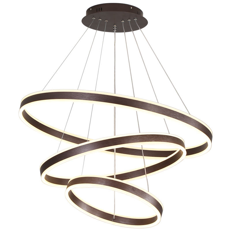 Gold Black Led Chandeliers Ceiling Light Hotel Bedroom Gold Acrylic Round Pendant Lamp Modern Chandelier Luxury Pendant Light