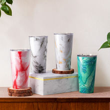 Amazon Hot Sale Double Walled Cups Stainless Steel Marble Custom Engraved Tumbler