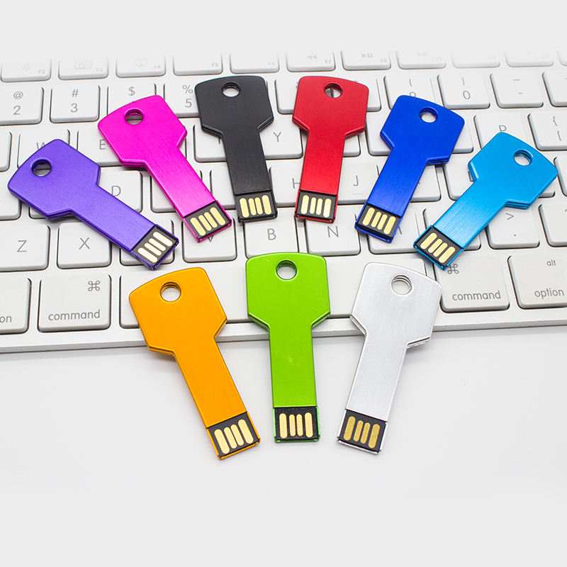 Usb Flash Drives Key Shape 8GB 16GB 32GB 64GB 128GB Flash Disk With Customized Logo