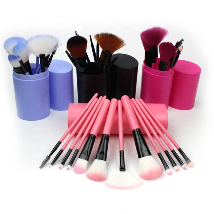 Ultra weiche synthetische haar 12pcs make-up pinsel eimer make-up kosmetik pinsel set Auf Lager