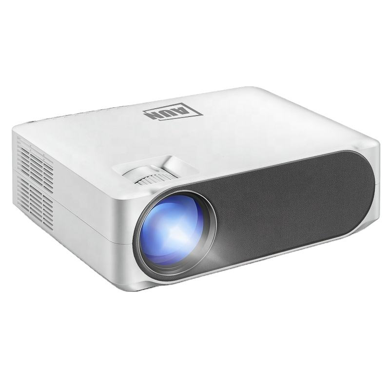 AUN Full HD Proiettore AKEY6, 1920x1080P, 6800 Lumens AC3 Decodifica, HA CONDOTTO Il Proiettore Per Home Cinema, 3D Beamer