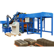 QTF4-25 building material vibration hydraulic press sand concrete block making machine for producing concrete hollow blocks