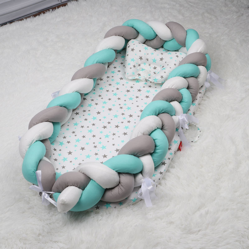 Baby nest knot pillow baby crib set baby crib bedside