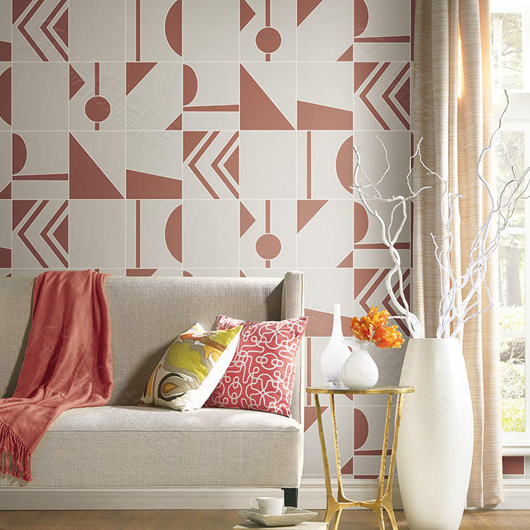 Decorative Wall Geometric Modern Wallpaper Papel Tapiz 3d Non Woven Wallpaper