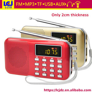 L-218 manual portable mini speaker with fm radio usb input