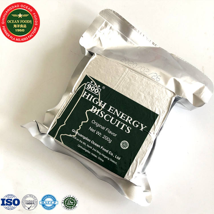 Military MRE Food Vacuum Pack Energy Compress Biscuits in Iron tins
