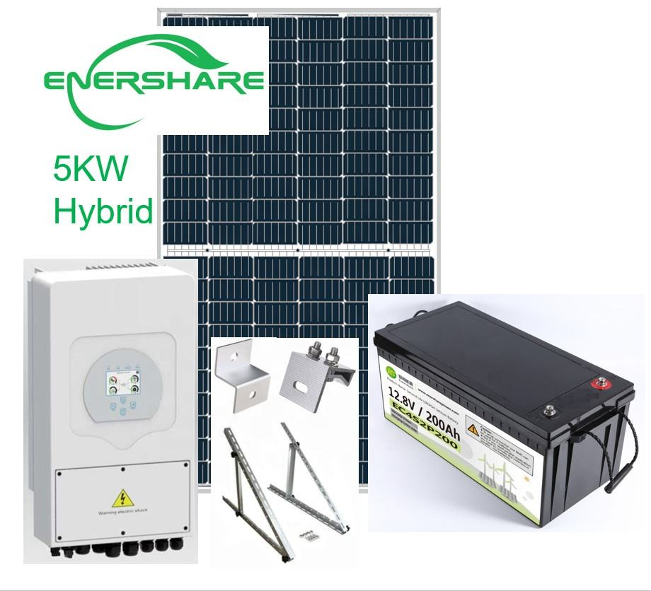 5 Kw Off-grid/hybrid Solar System With Inverter Solar Power System Home 3kw Solar System Battery For Energy Storage In Usa