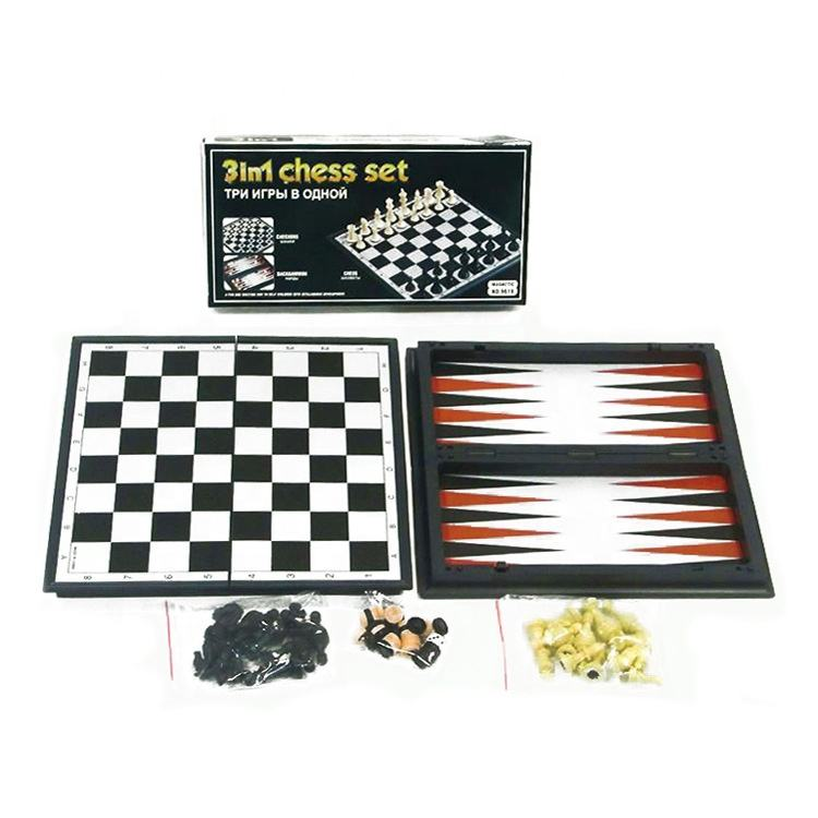 3 In 1 Backgammon Chinese <span class=keywords><strong>Checkers</strong></span> Magnetische Board Internationale Schaken