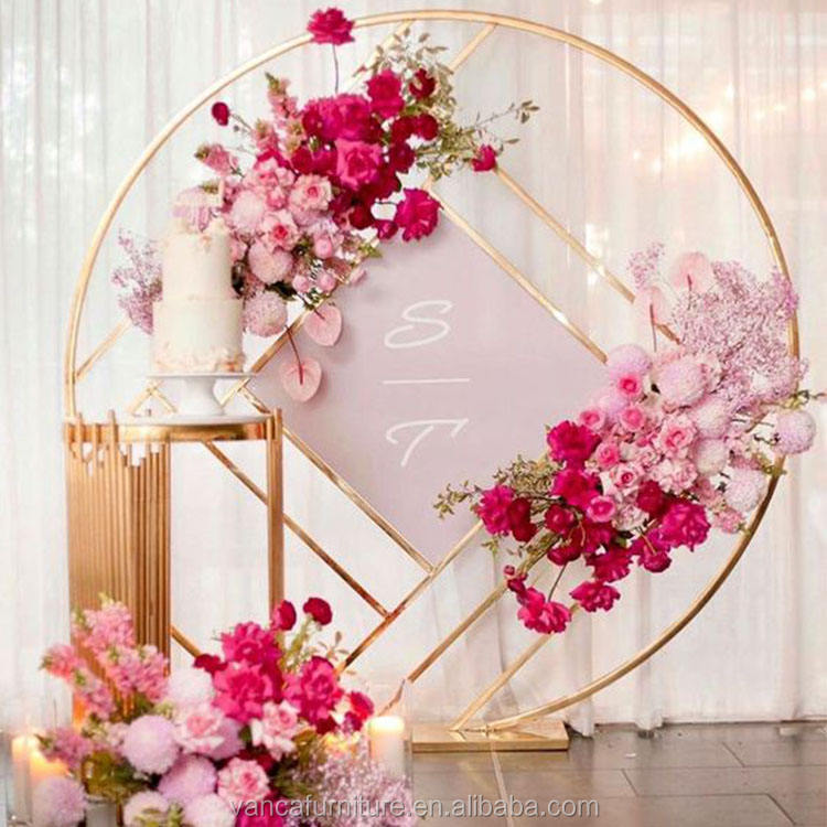 beautiful popular wedding furniture party decoration round wedding backdrop for sale